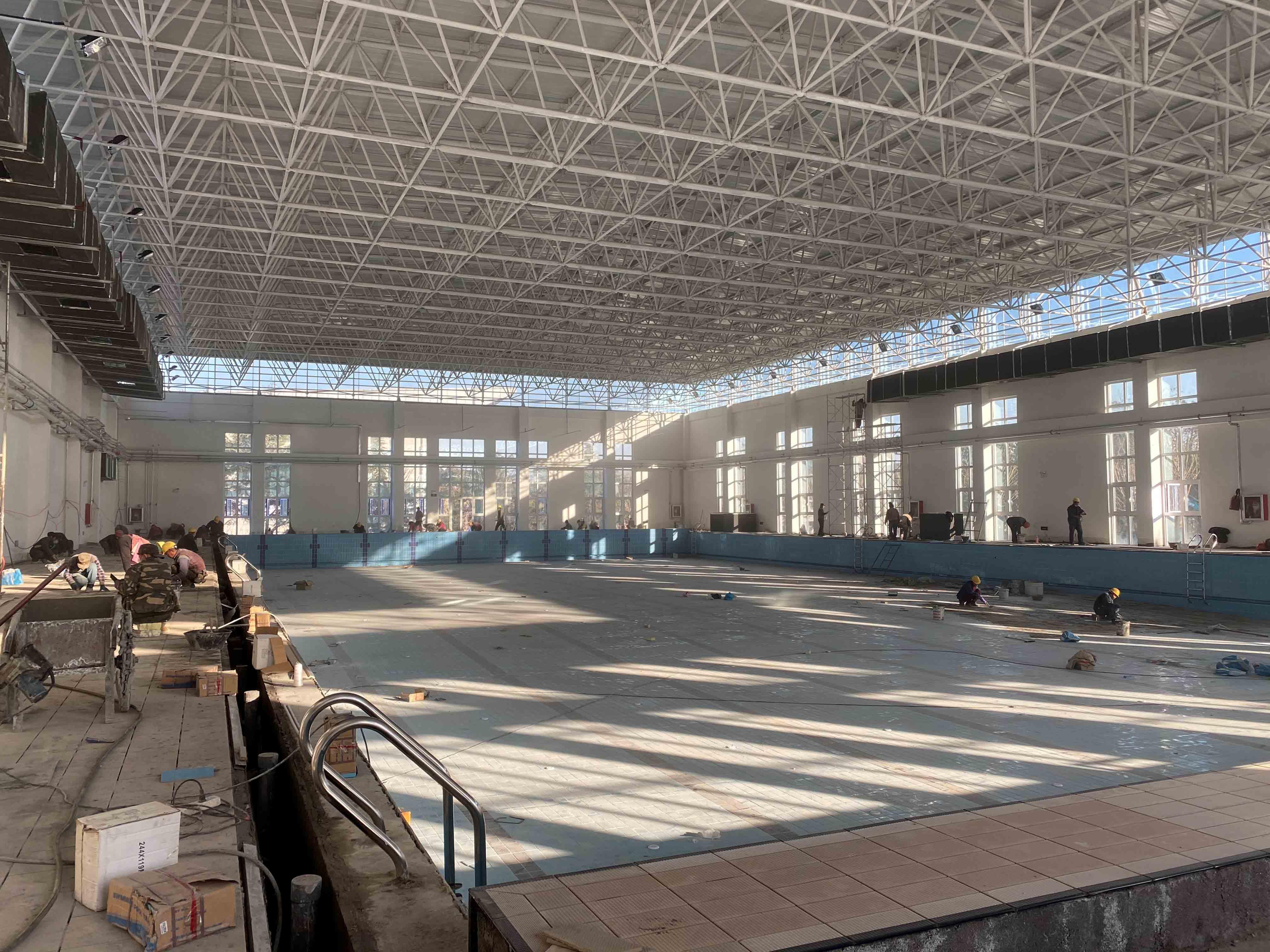 「山东上水」海军航空大学现场施工如期进行中