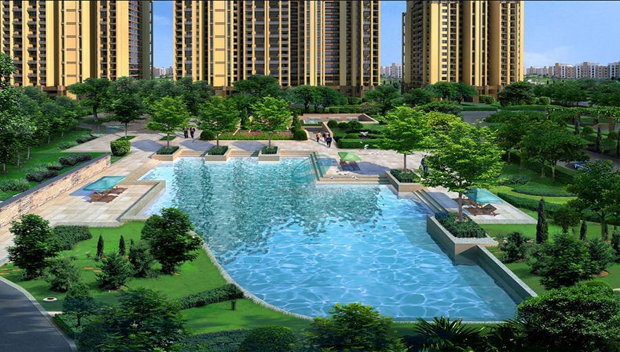 济南恒大金碧新城项目新售楼处景观泳池安装工程